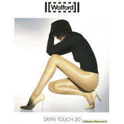 Wolford - Collant Satin Touch 20 - Gris - T1