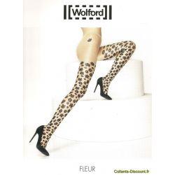 Wolford - Collant fleur - Sahara-Noir - T1