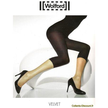 Wolford - Legging Velvet - Opaque - Blanc - T1
