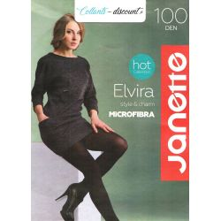 Janette - Collants Elvira - opaque microfibre - 100d - Vison - T2