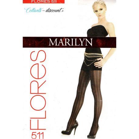 Marilyn - Collant Flores fantaisie - Ocean - T2
