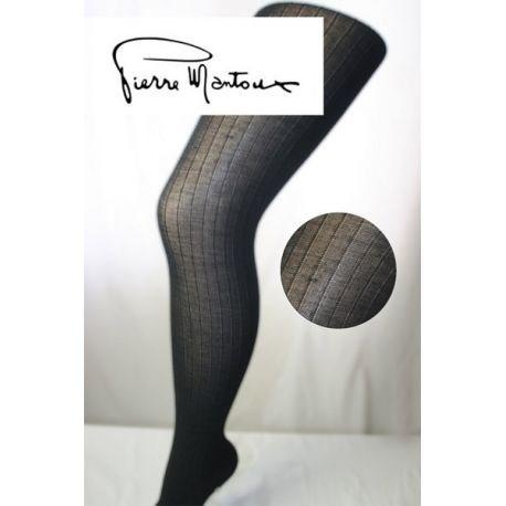 Pierre Mantoux - Collant Opaque Rayures - Noir - T1/2