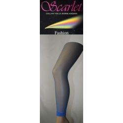 Scarlett - Legging's Résille - Bleu - T3/4