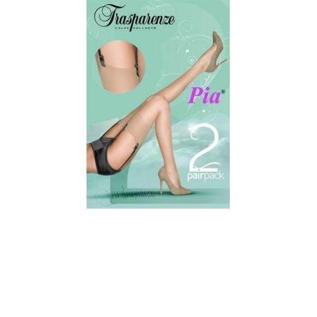 Trasparenze - 2 paires de bas mousse classique Pia - Perle - T2