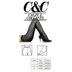 C&C - Collants stretch sans demarcation - Noir - T1