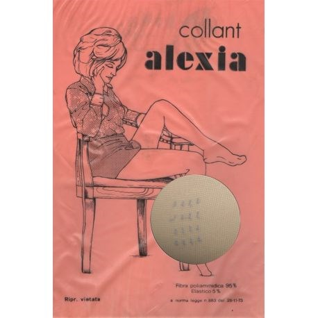 Alexia - Collant stretch fantaisie - 15d - Noir - T1